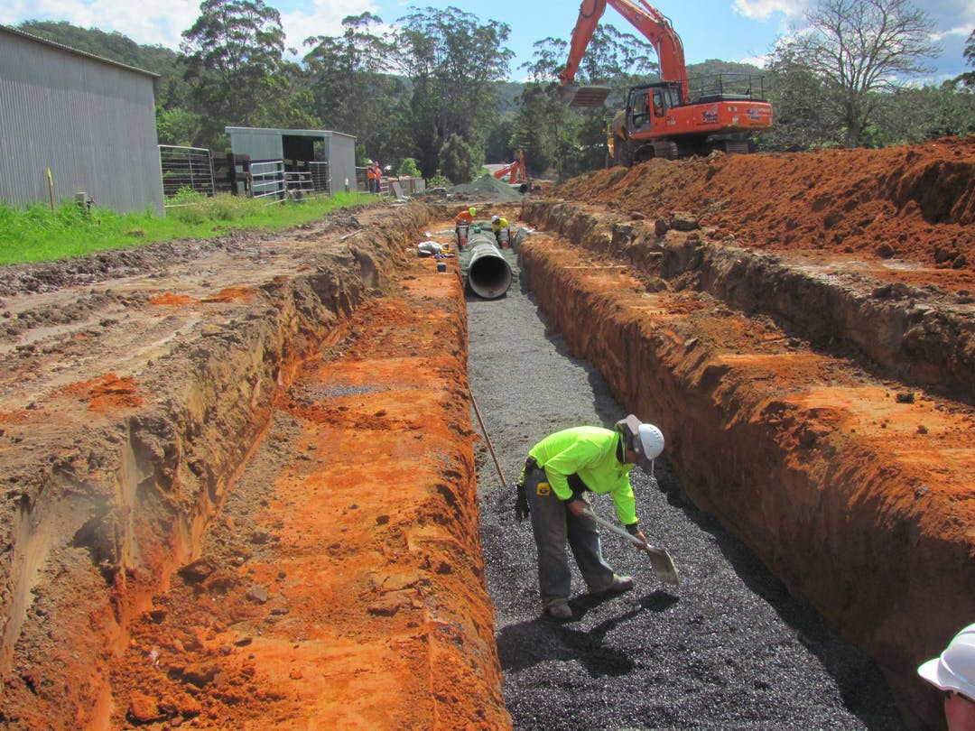 Securing water supply for the Coast. New section of water infrastructure.