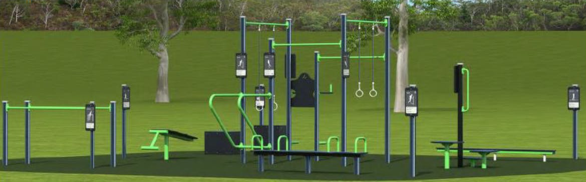 Artist Impression of Long Beach Exercise Equipment