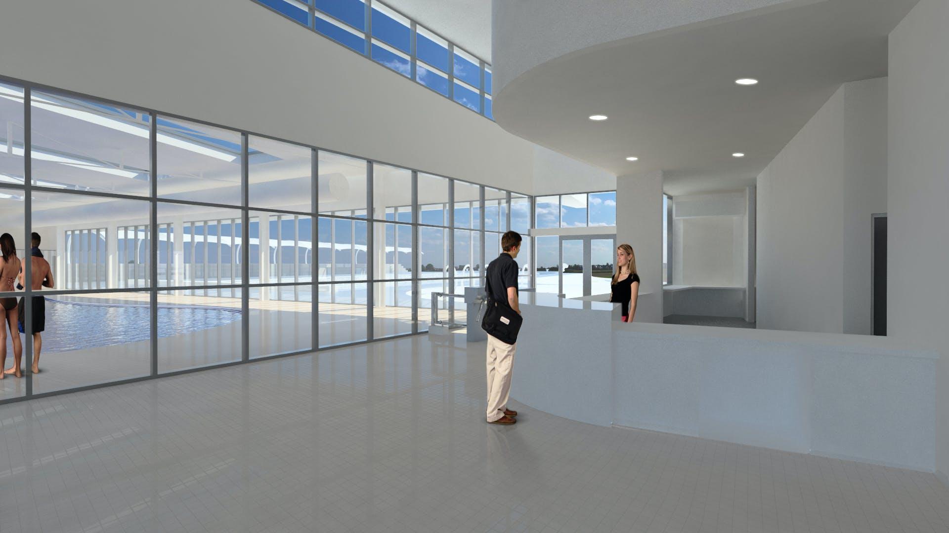 Swansea reception area