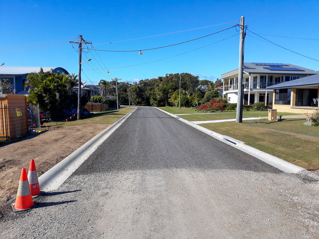 Stage 1 road upgrade is near completion, on Second Avenue