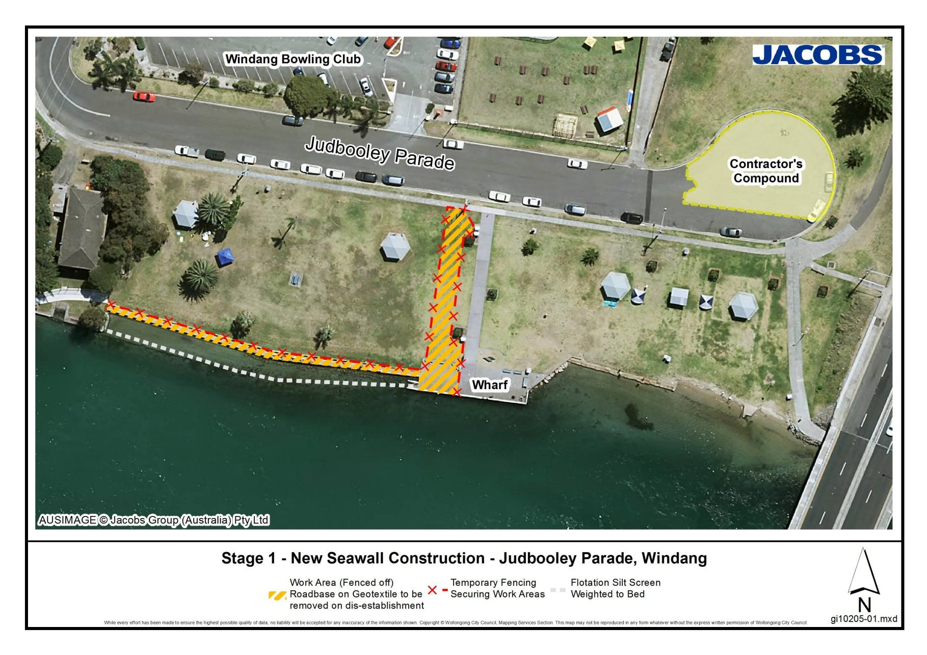 Stage 1: New Seawall Construction - Judbooley Parade, Windang