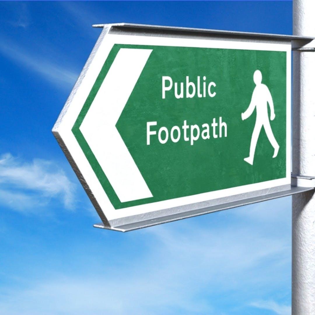 Hamilton road footpath