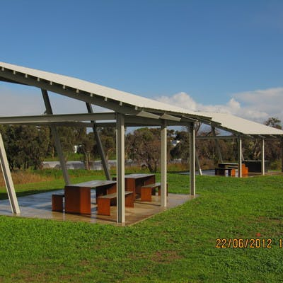 Existing shelters and barbecue facilities in the park