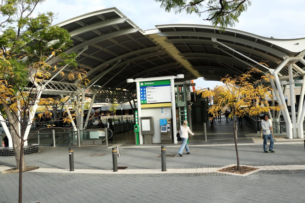 Subiaco Train Station  Entrance