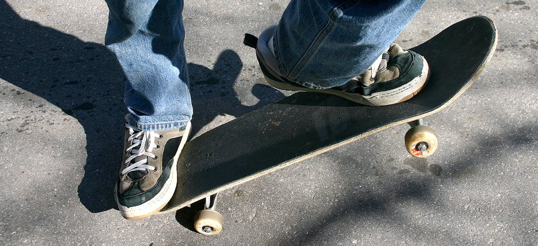 Skate image   board and feet only