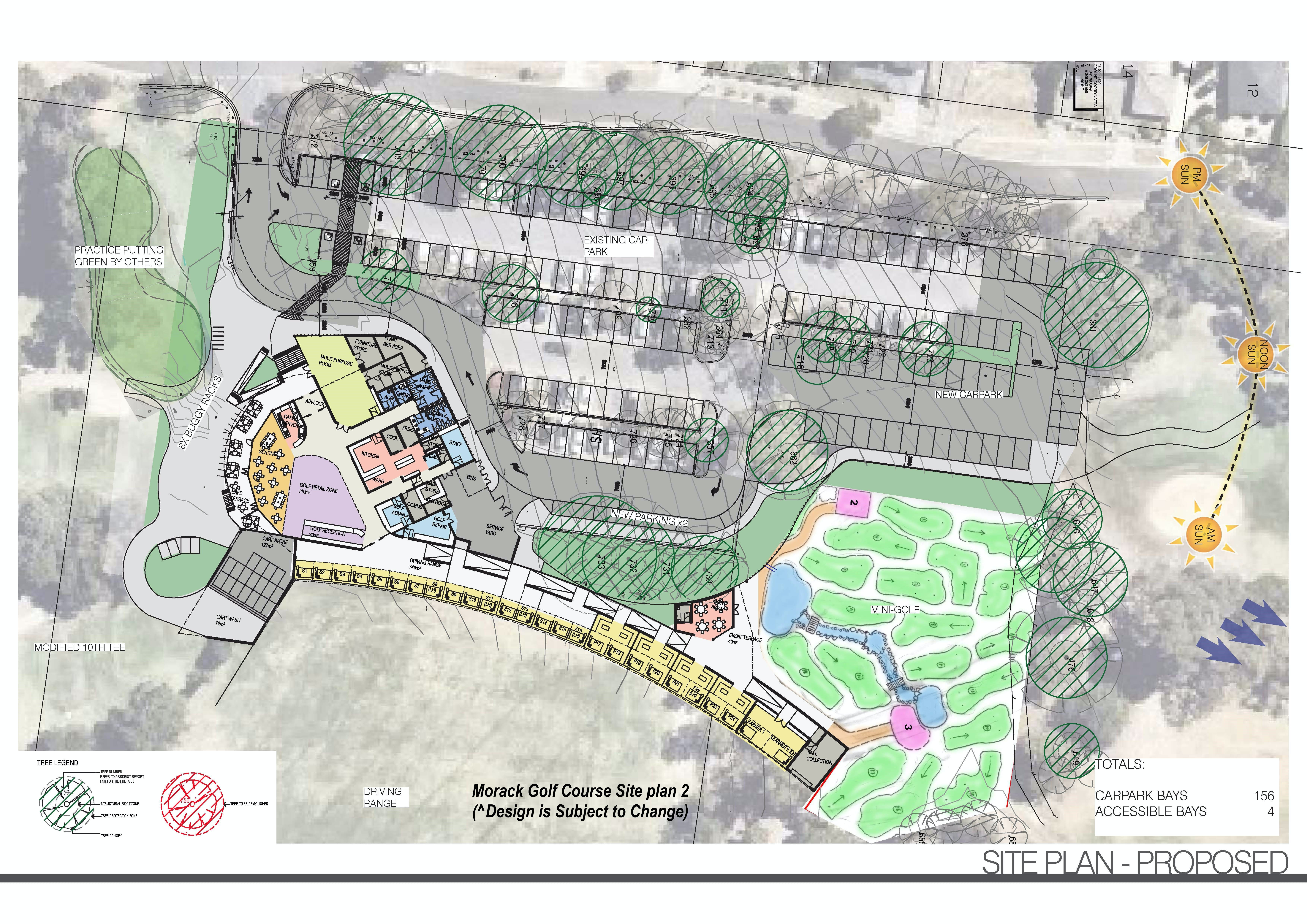 Morack Golf Course Redevelopment proposed site plan 2
