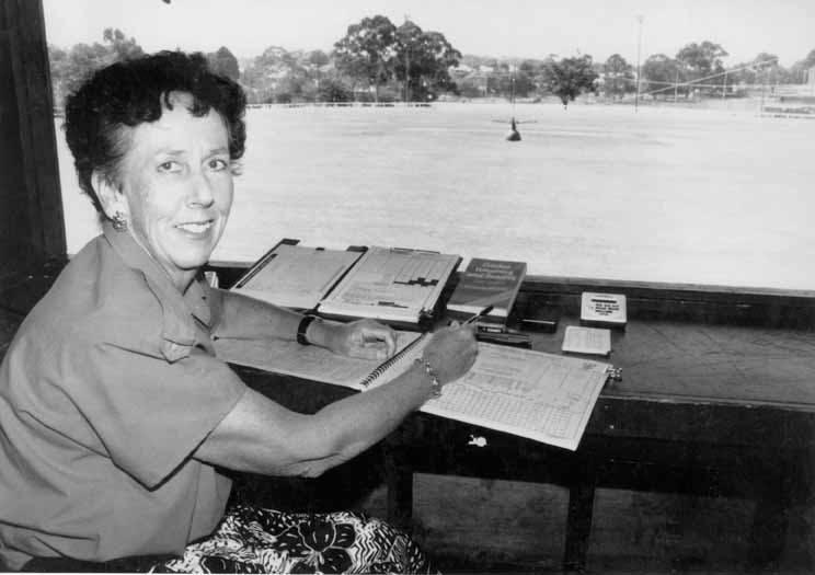 1971-1991 Joan Tolhurst scorer at Brelsford Park