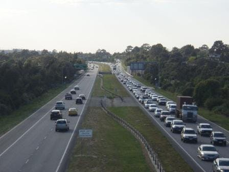 Monash Freeway Berwick during morning peak