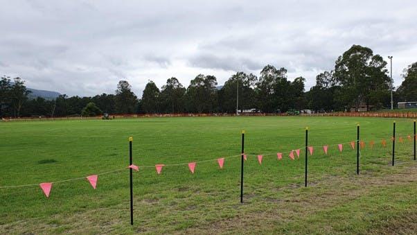 Showground boundary fencing works begin
