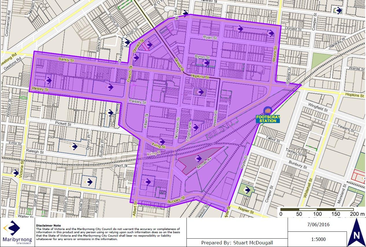 Footscray Cbd Map
