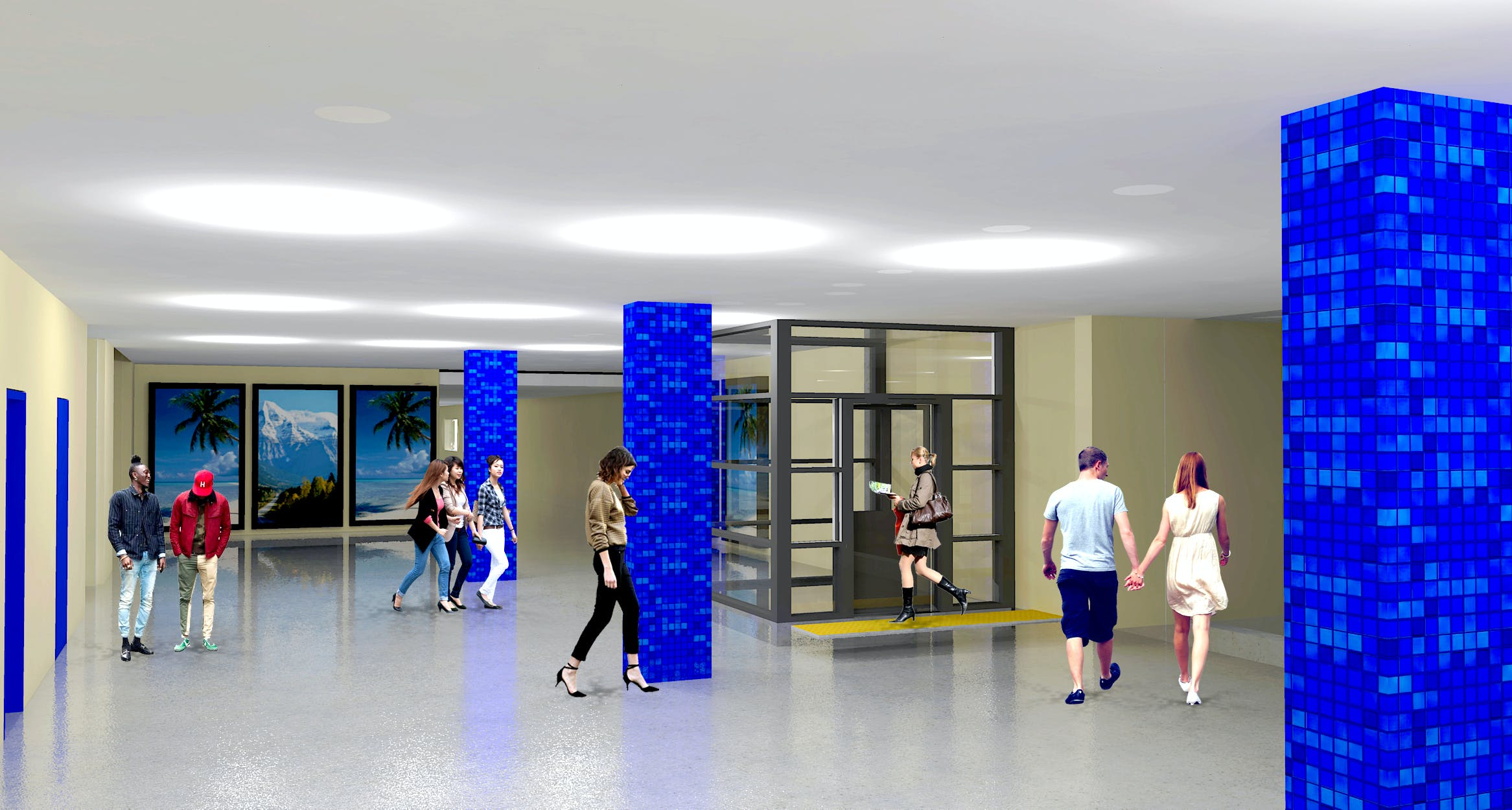Artist's impression of concourse at Edgecliff Station