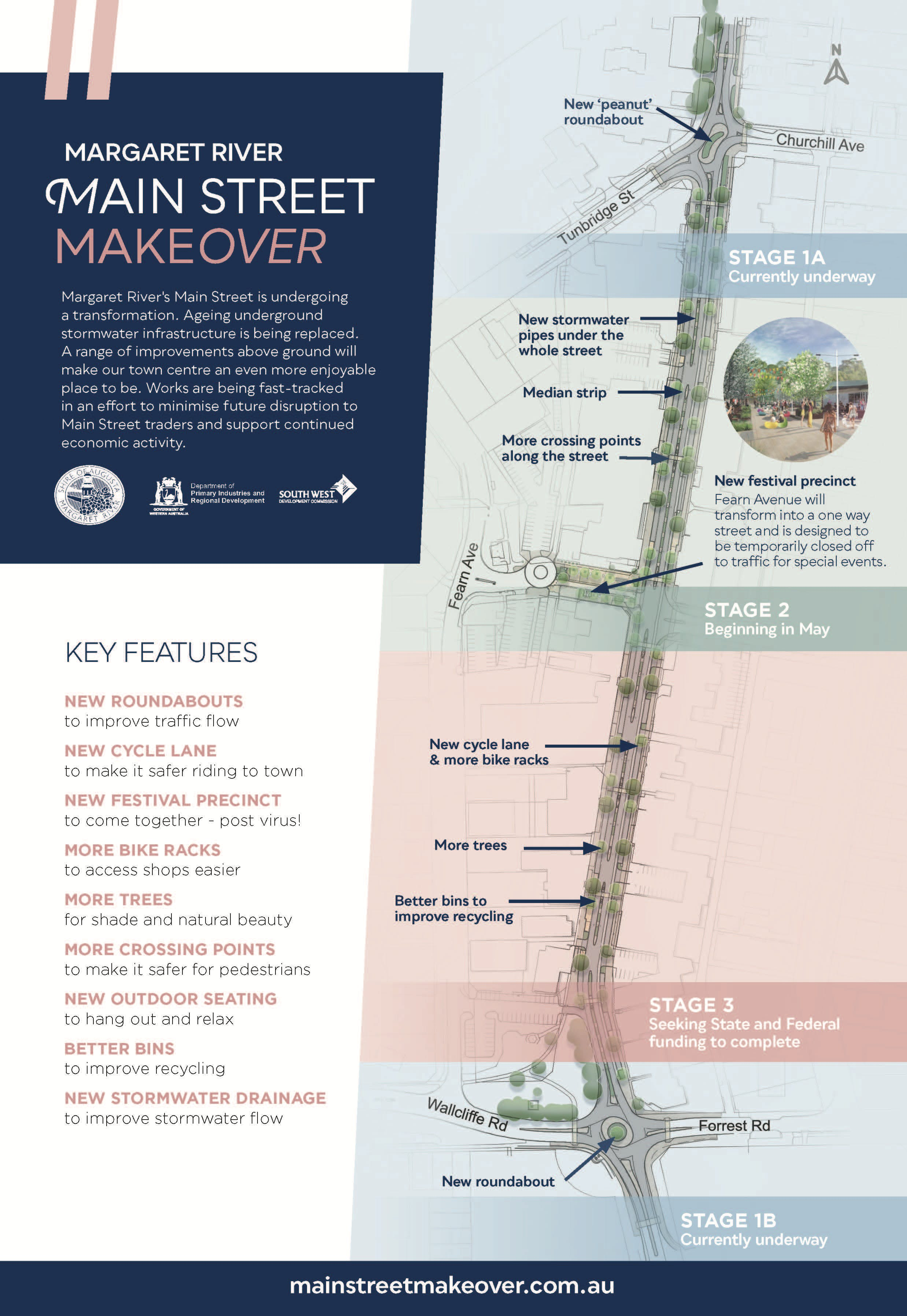 Main Street Makeover Map