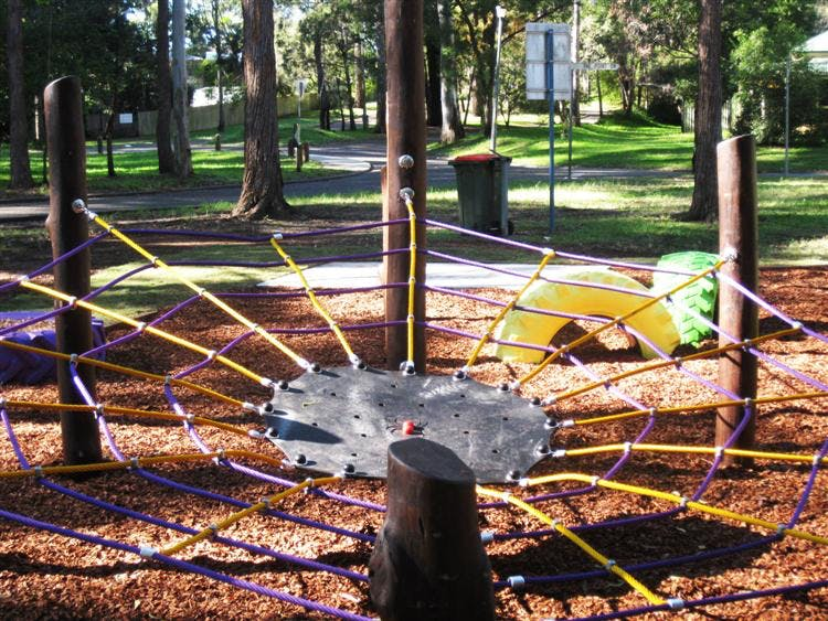 New spider net at the play ground