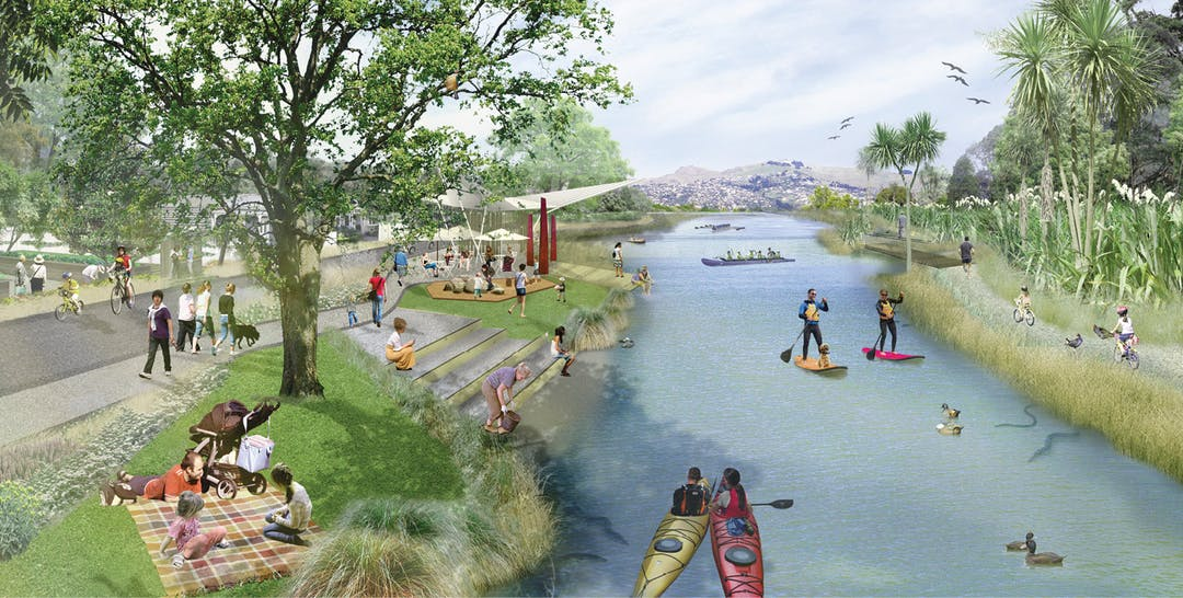 Artist impression of the Otakaro Avon River Corridor