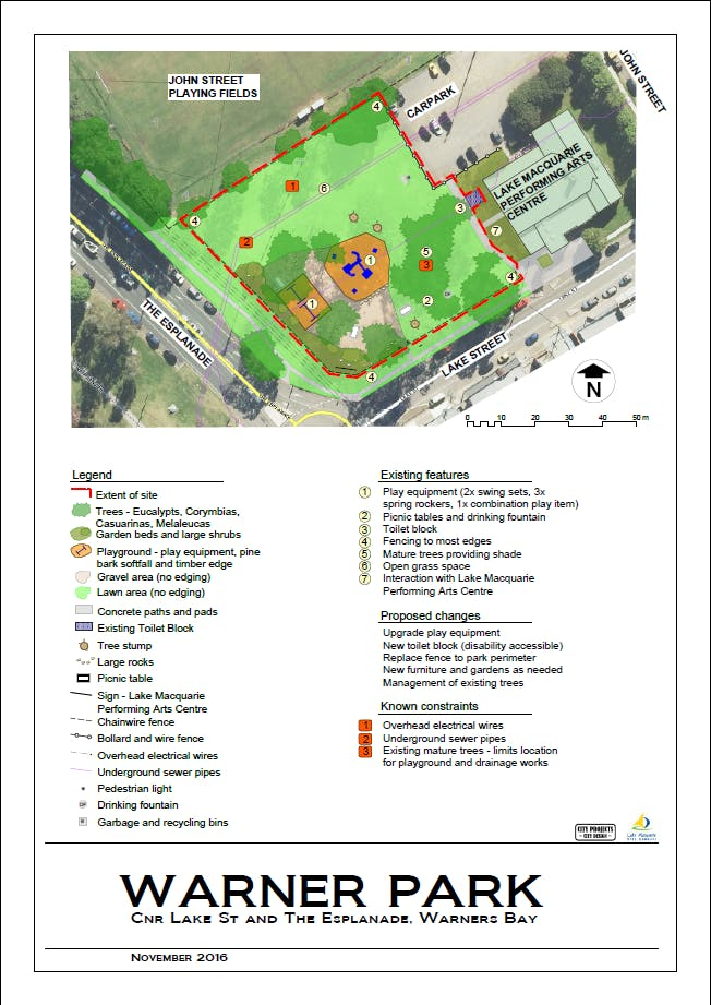 Map Of Existing Park Features
