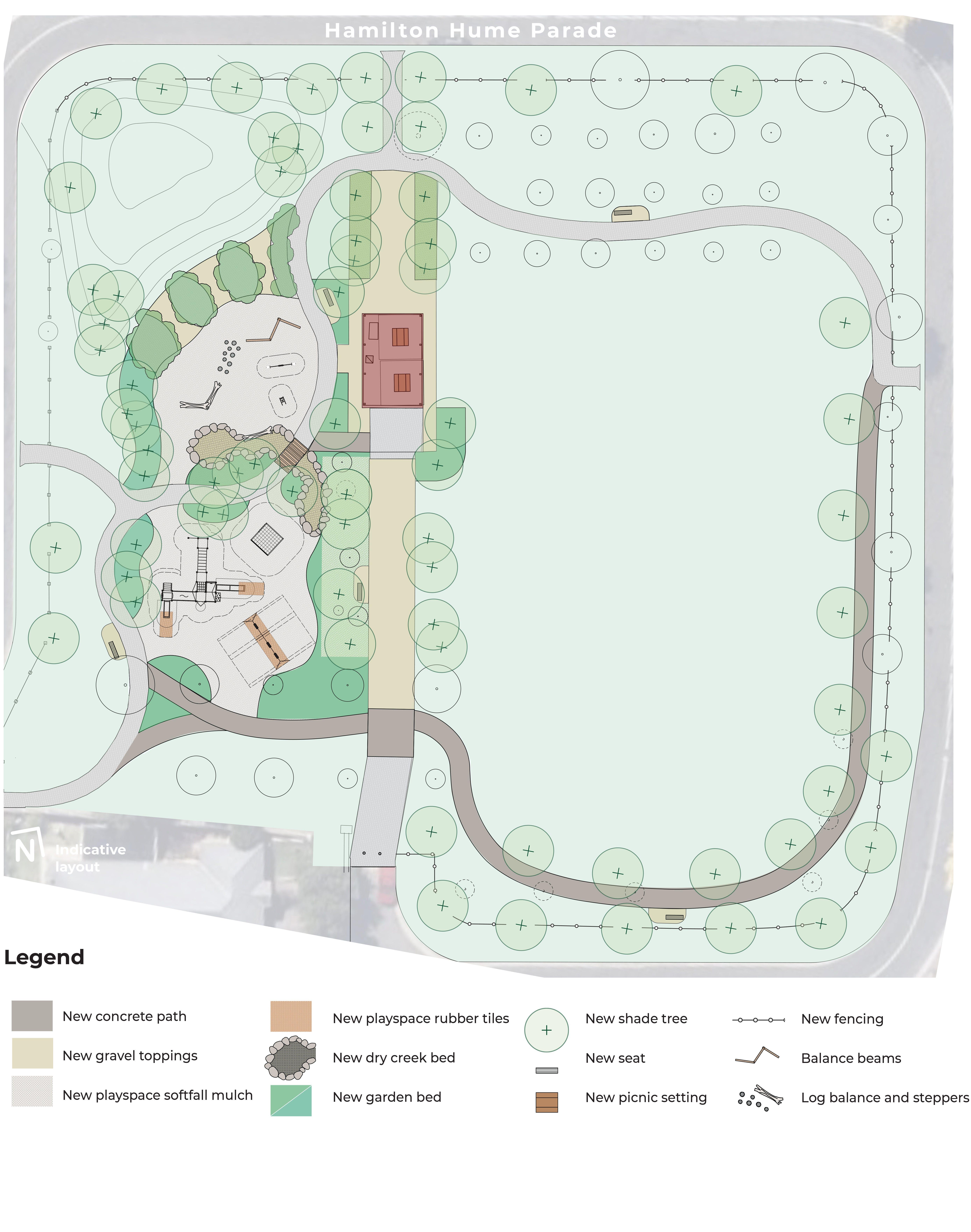 Hamilton Hume Reserve - Play & Landscape Concept Plan