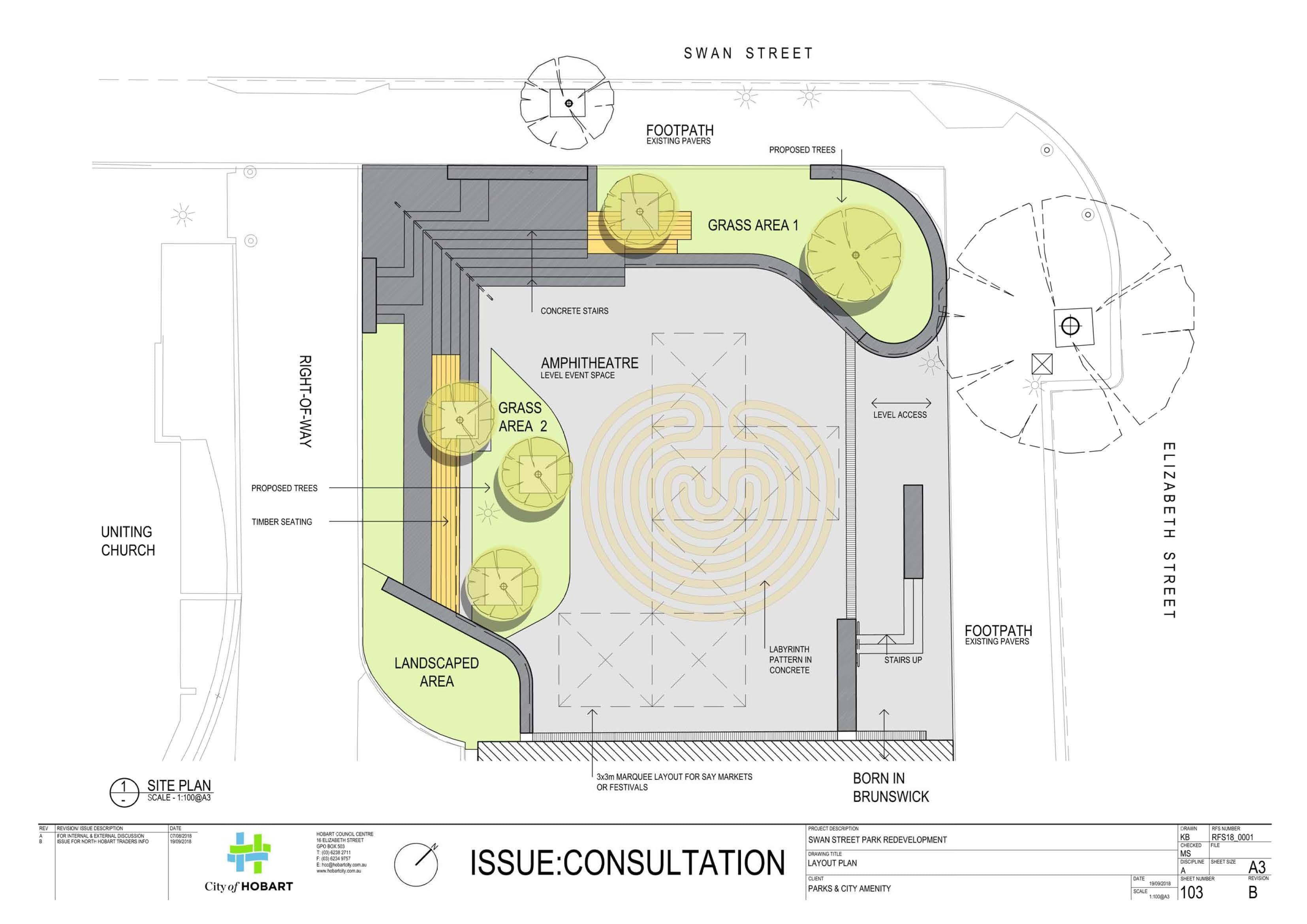 Swan Street Park - Draft concept design
