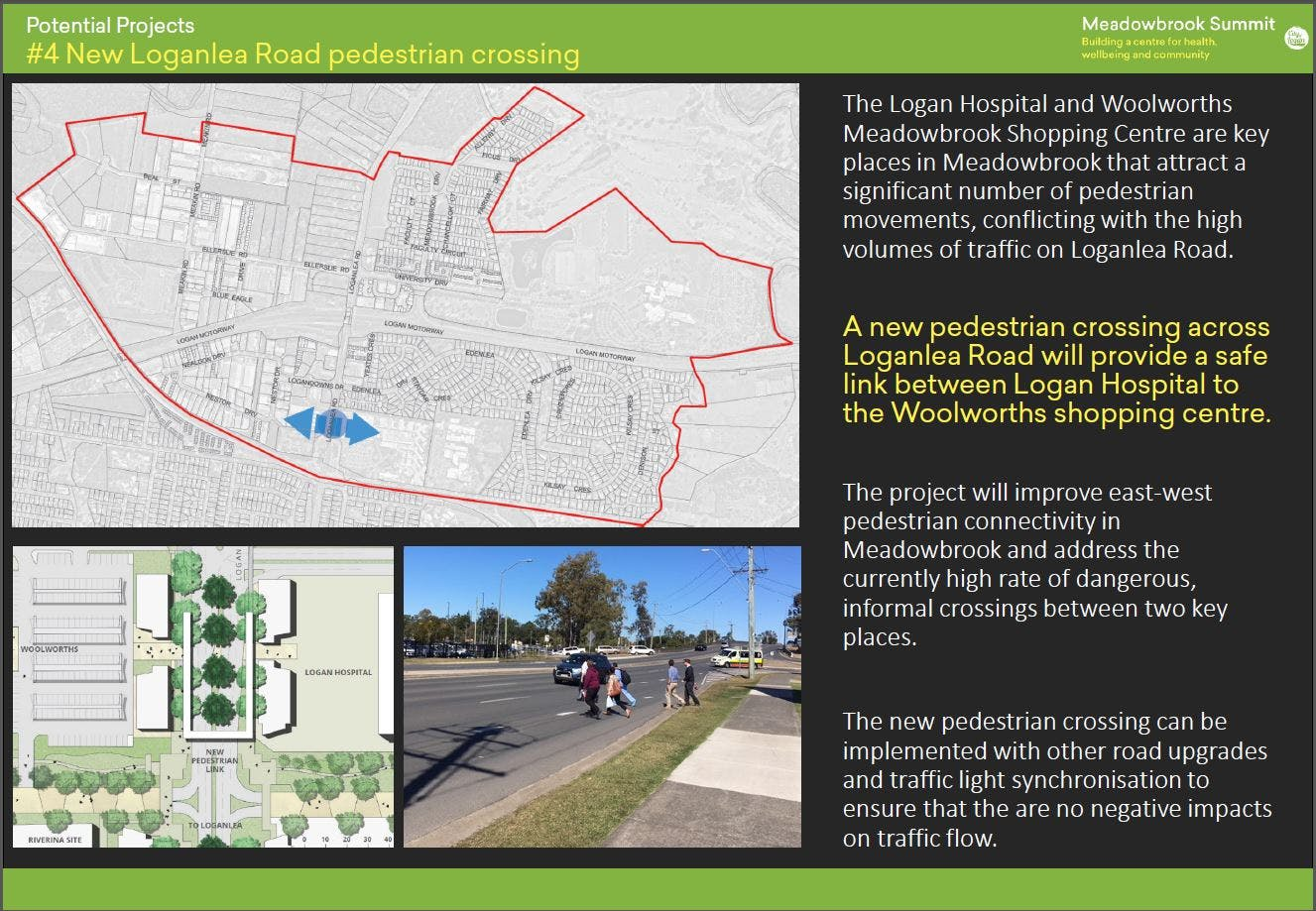 4. New Loganlea Rd pedestrian crossing