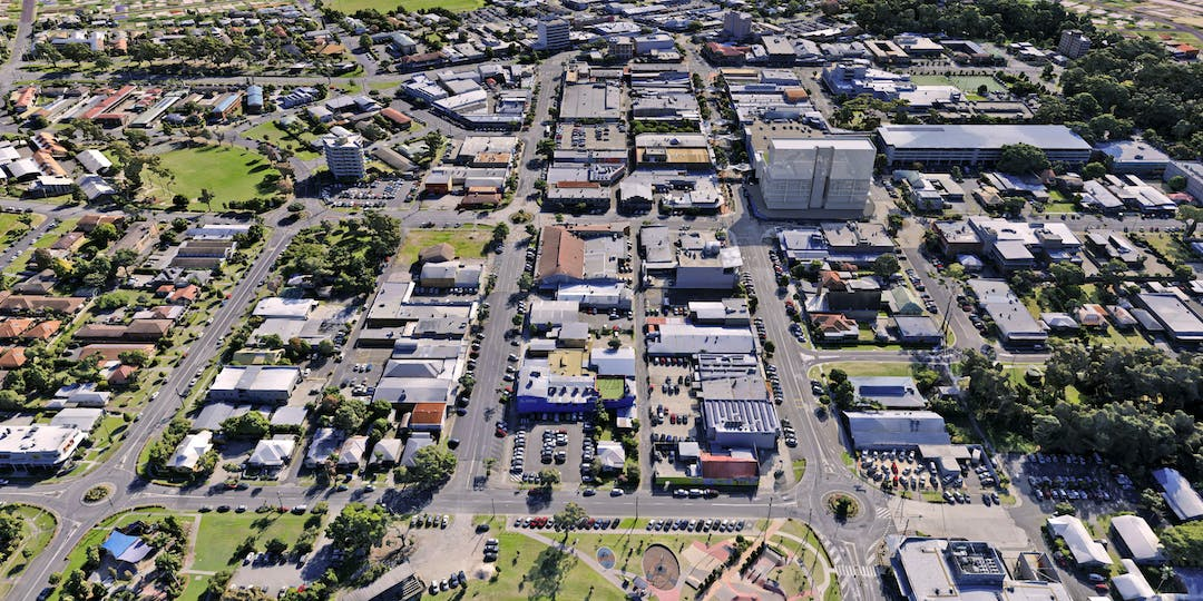 Aerial view existing buildings 4b