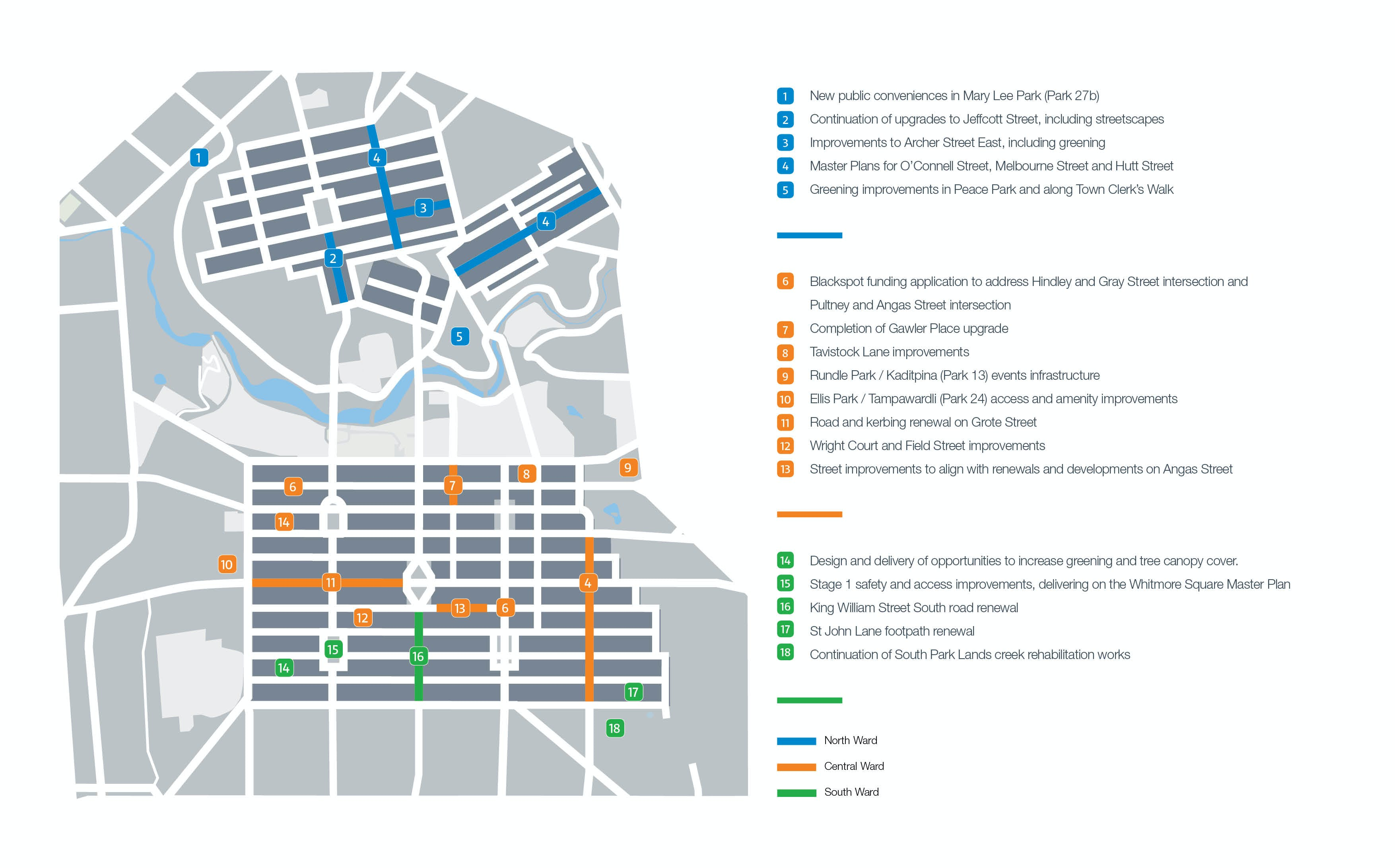 2019-20 Key Projects Map