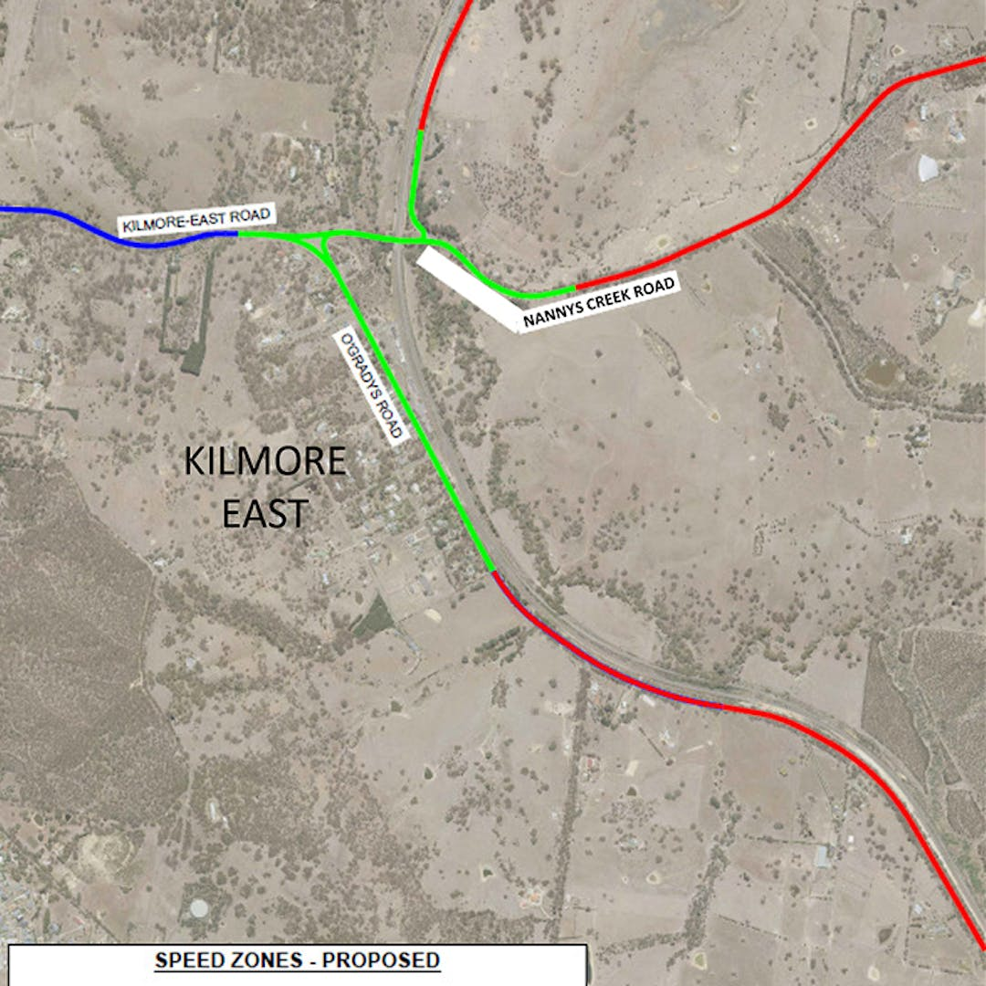 Kilmore East speed limit changes