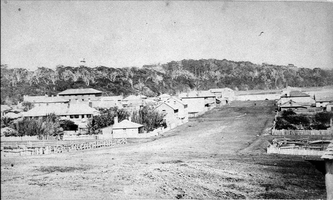 Port Macquarie - Clarence Street c1870