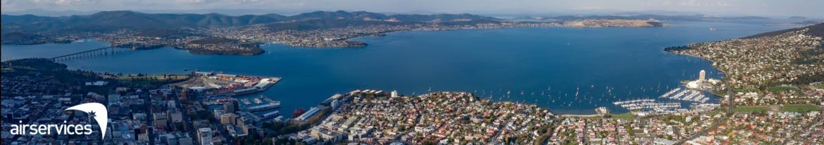 Banner image features a panoramic image of Hobart and the Bay