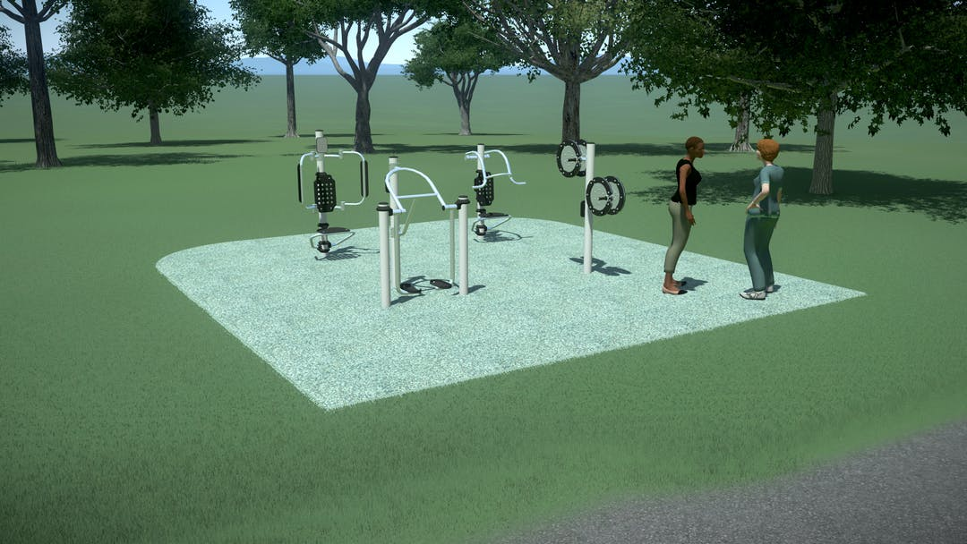 Existing Dynamic fitness Equipment in Christison Park