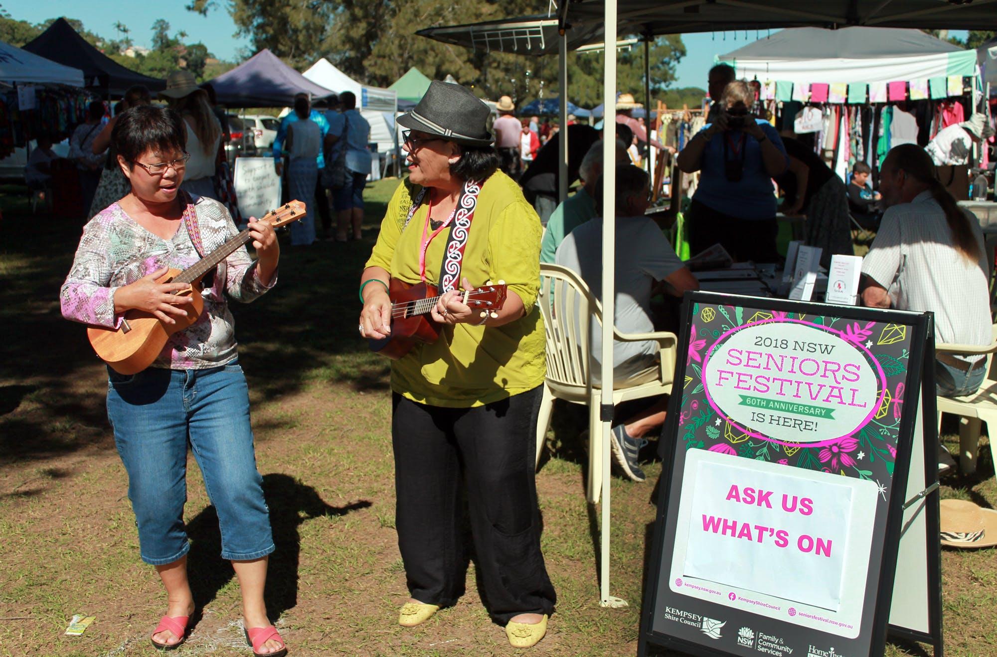 Seniors Festival Stall at Kempsey Riverside Markets