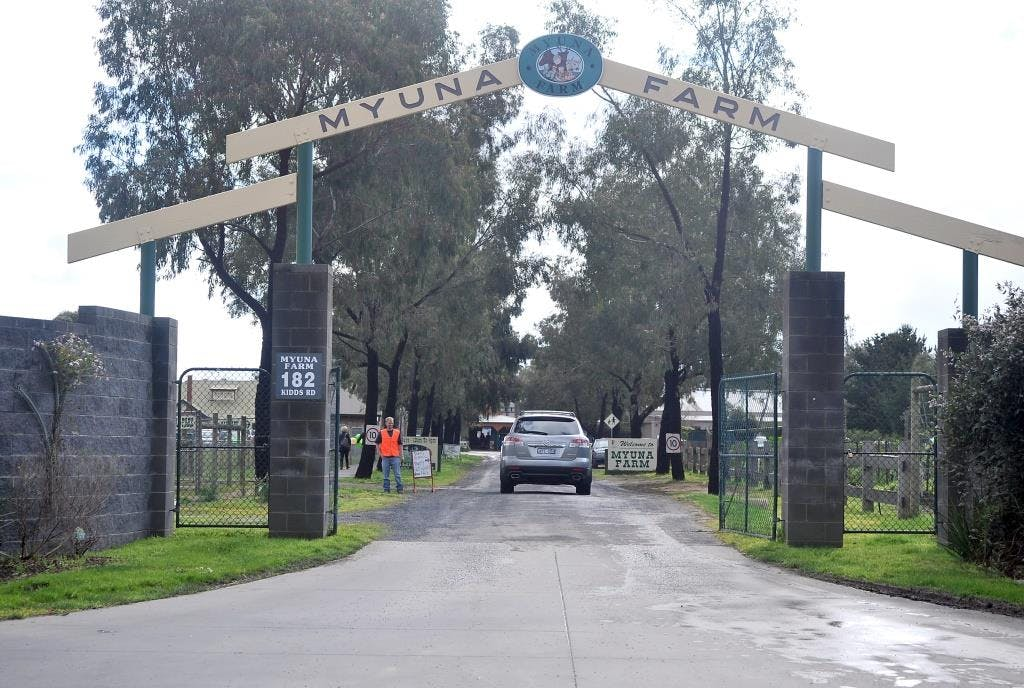 Entrance to Myuna Farm