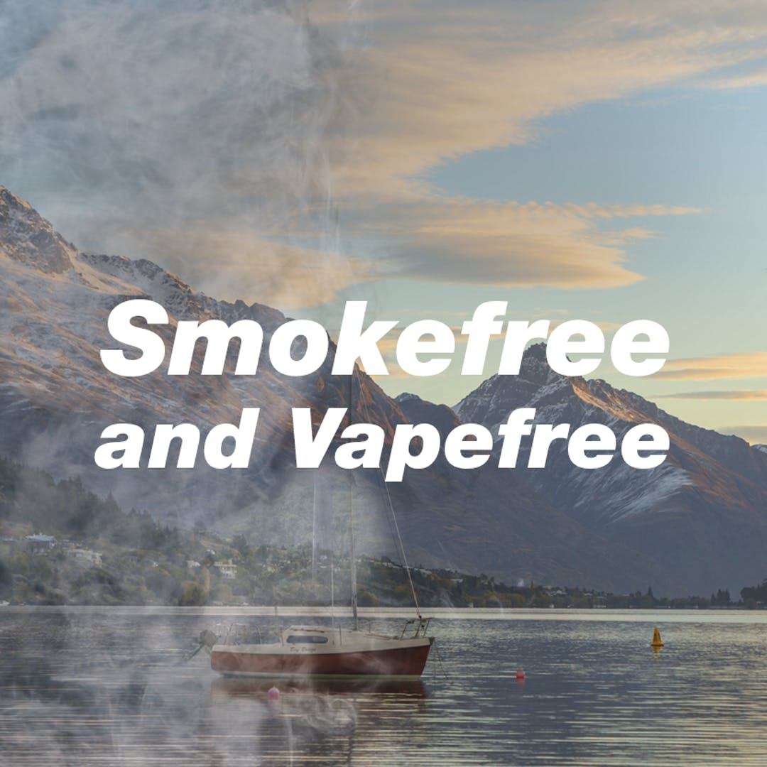Smokefree and vapefree tile