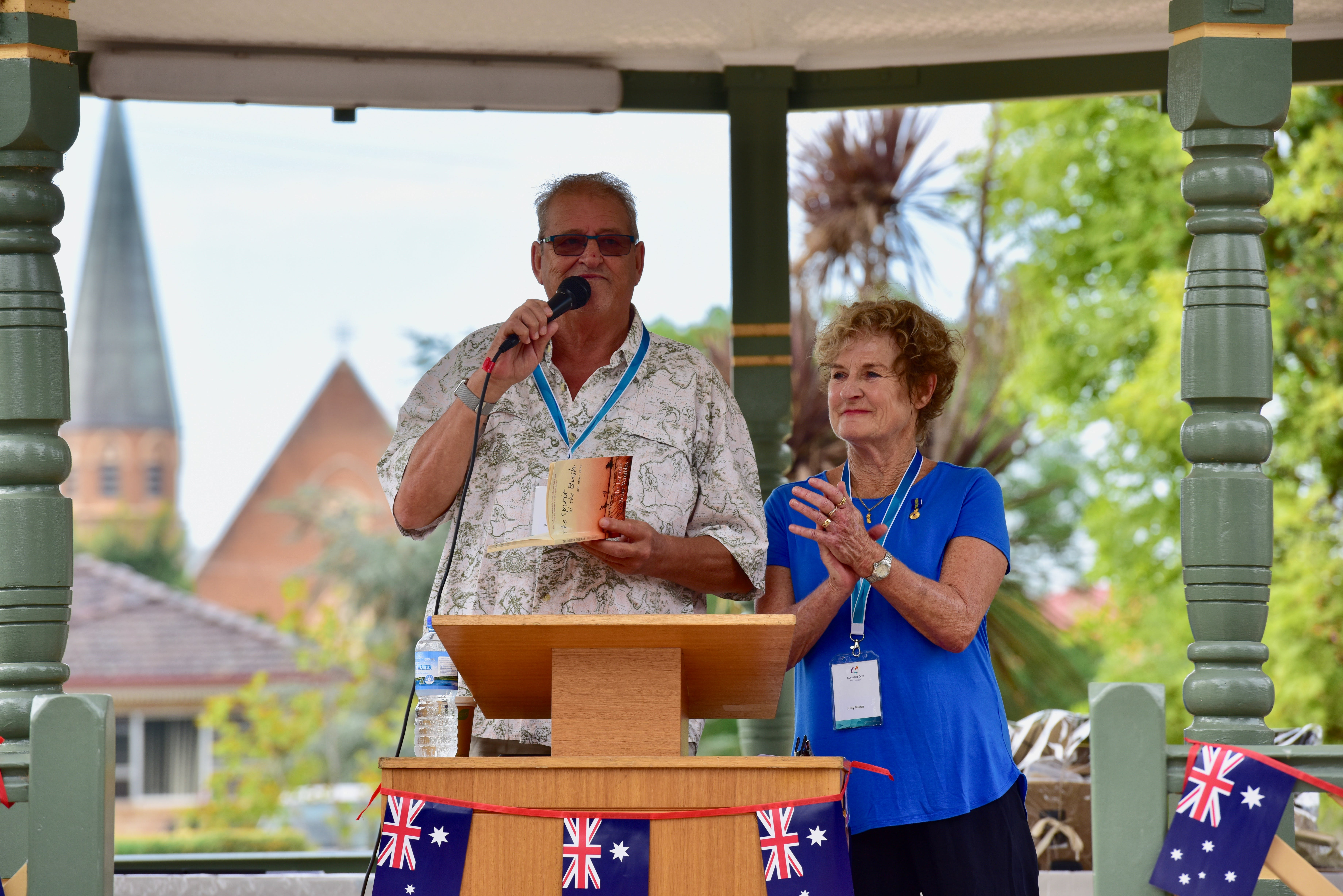 Australia Day 2018 Ambassadors Bruce Venables and Judy Nunn