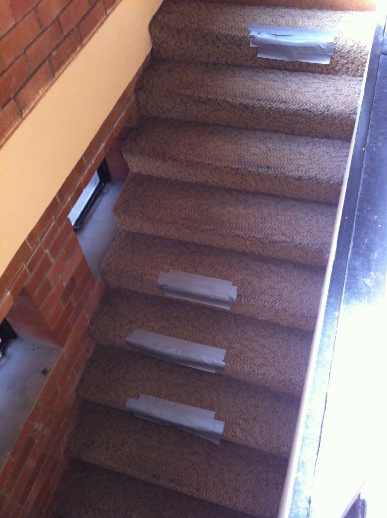 Rear stage steps