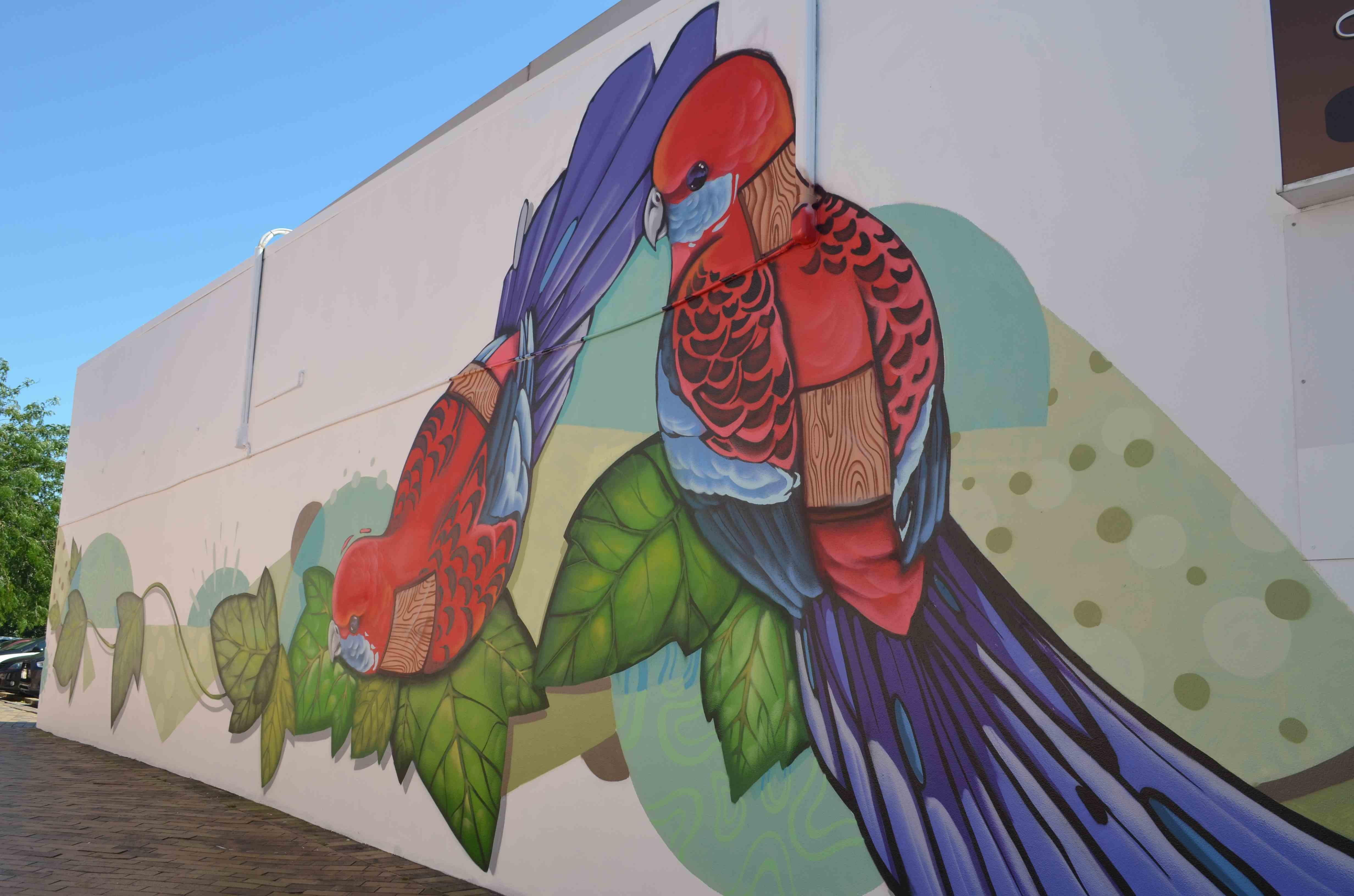 New Mural - Artist Janne Atron Krimsone commissioned by Chase Murray
