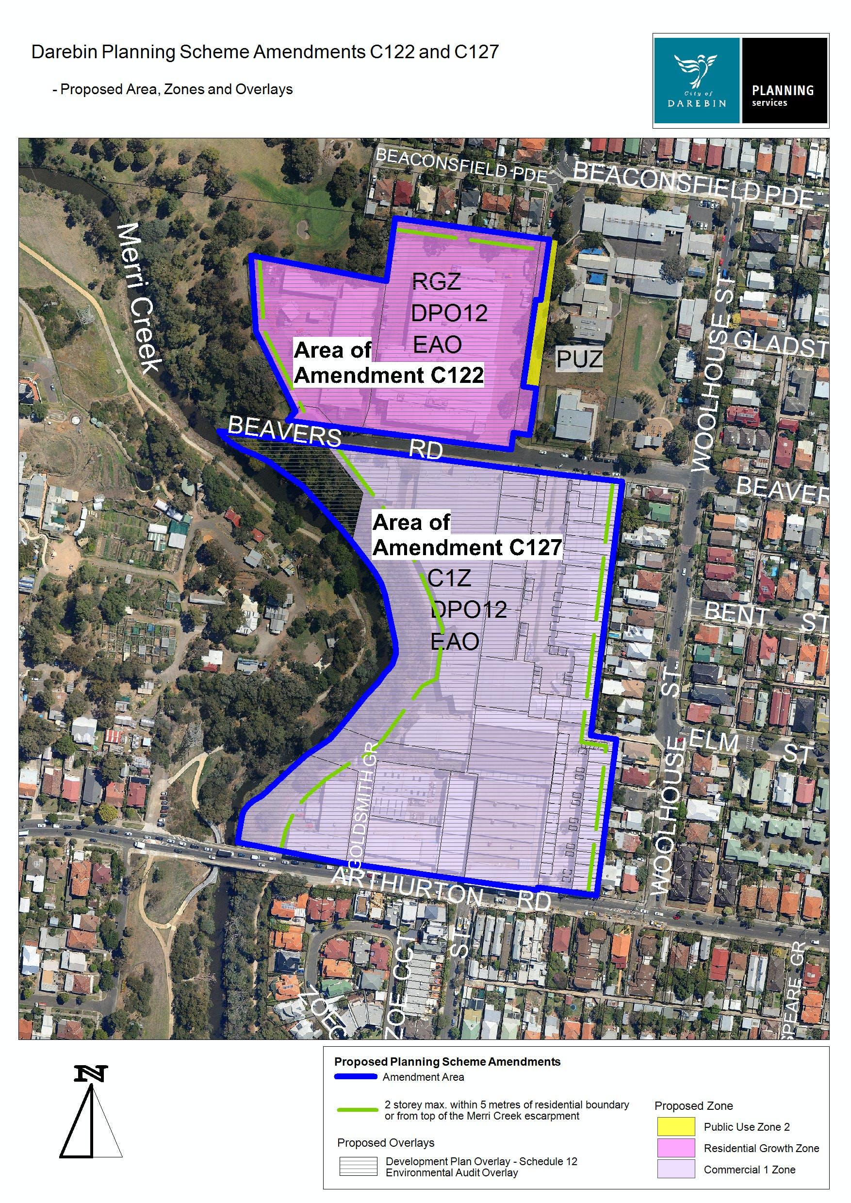 Amendments C122 and C127 Ovweview Map