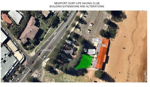 Aerial Plan Newport Surf Club