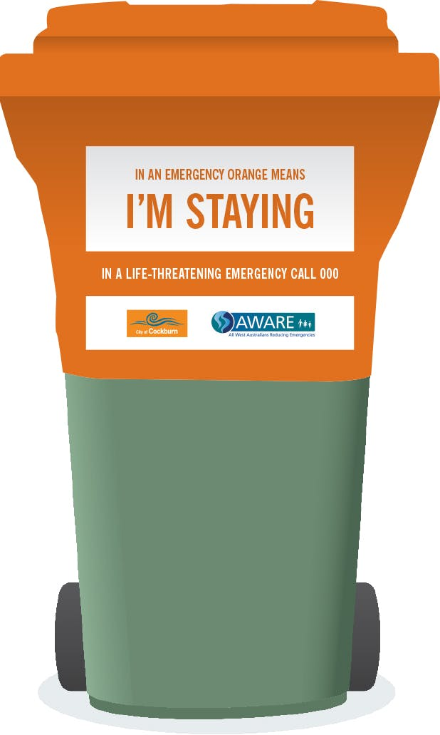 Stay Or Go Image   Orange Bin