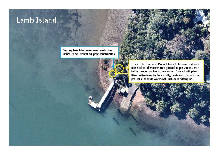 Lamb Island - Removal/relocation plan