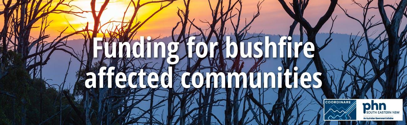 Funding for bushfire affected communities