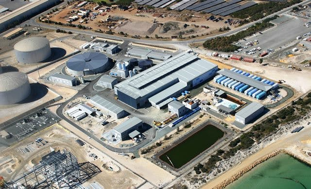 Perth Seawater Desalination Plant in Kwinana