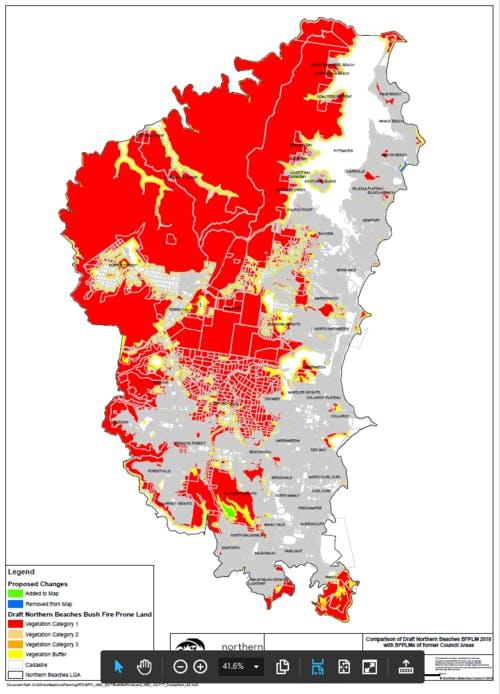 Bush Fire Prone Land Map   Comparison