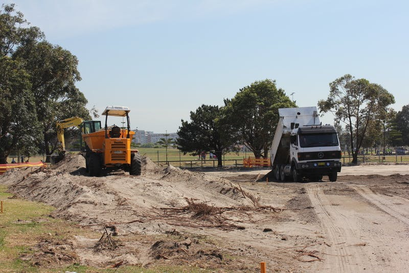 Construction on the bike track - 2012