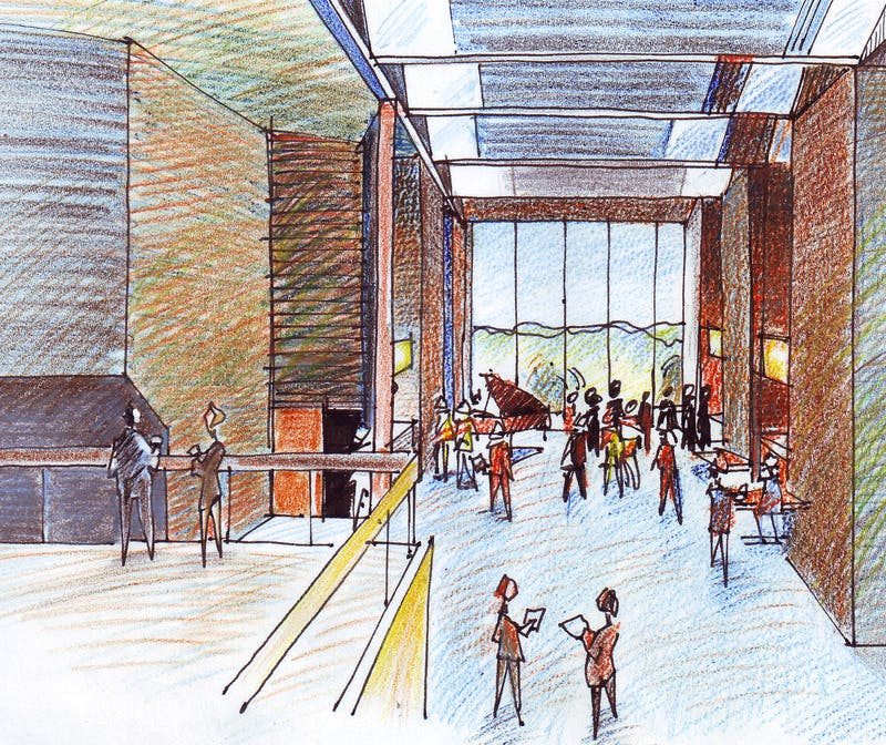 Option B - Artists Impression of theatre foyer