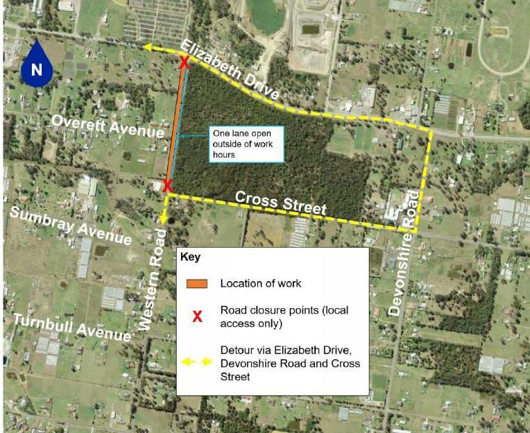 Kemps Creek - Western Road Closure and detour