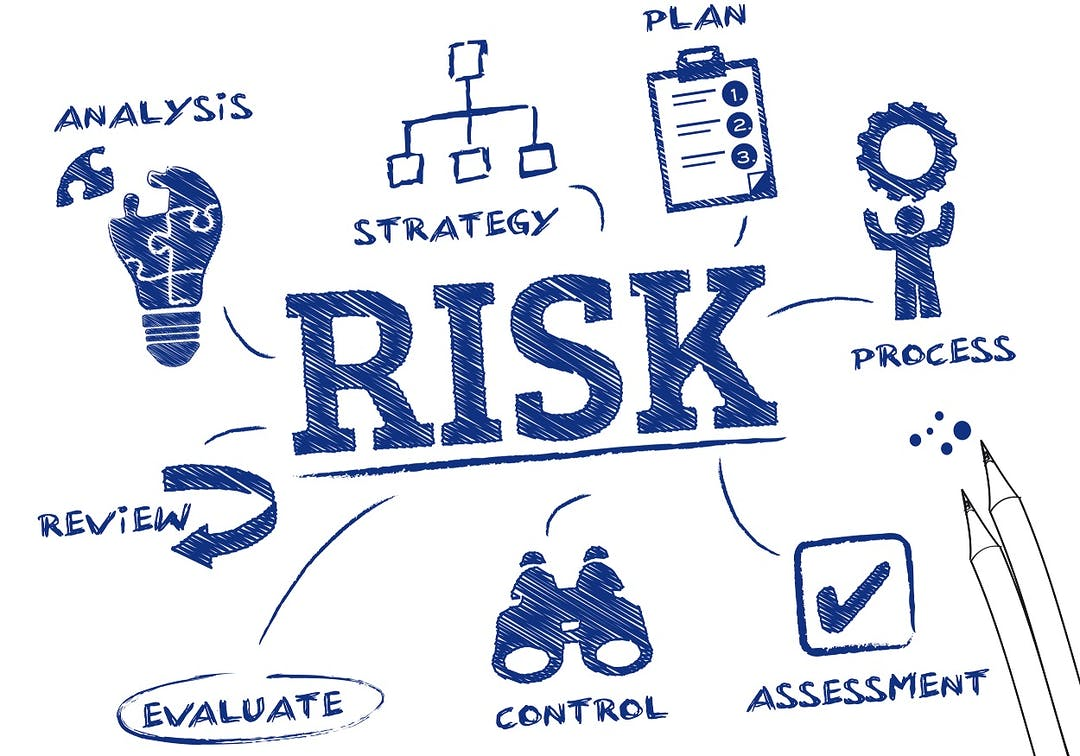 Stock image of the components of risk management