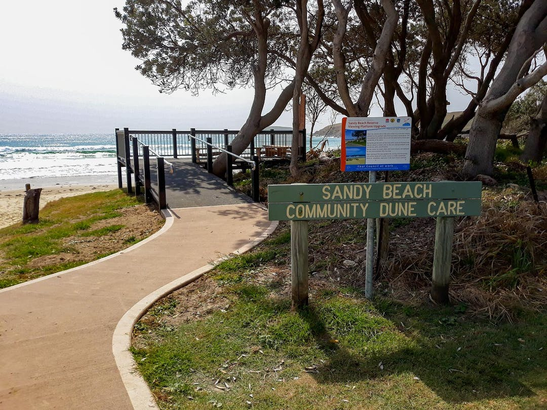 The Sandy Beach Reserve Masterplan was developed in consultation with the local community.The Reserve forms part of the Coffs Coast Regional Park. Masterplan projects are implemented as funding becomes available.