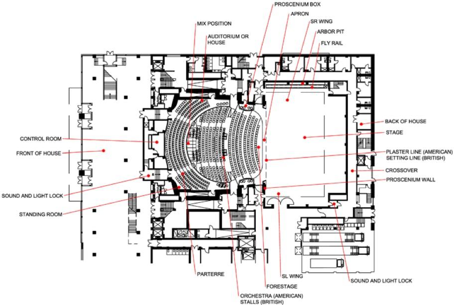 Example theatre floorplan