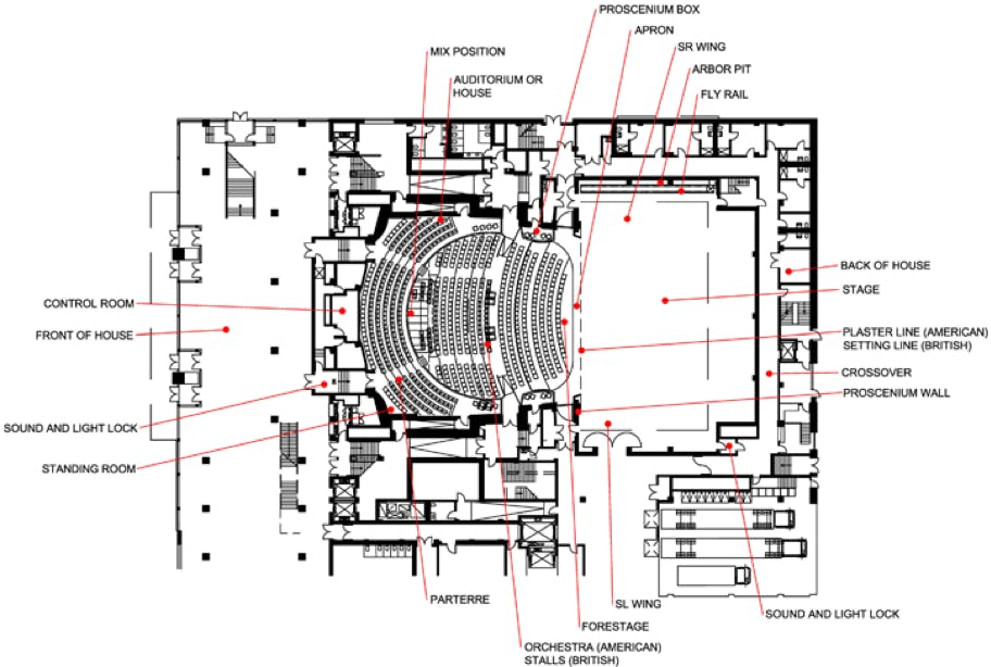 Example theatre floorplan