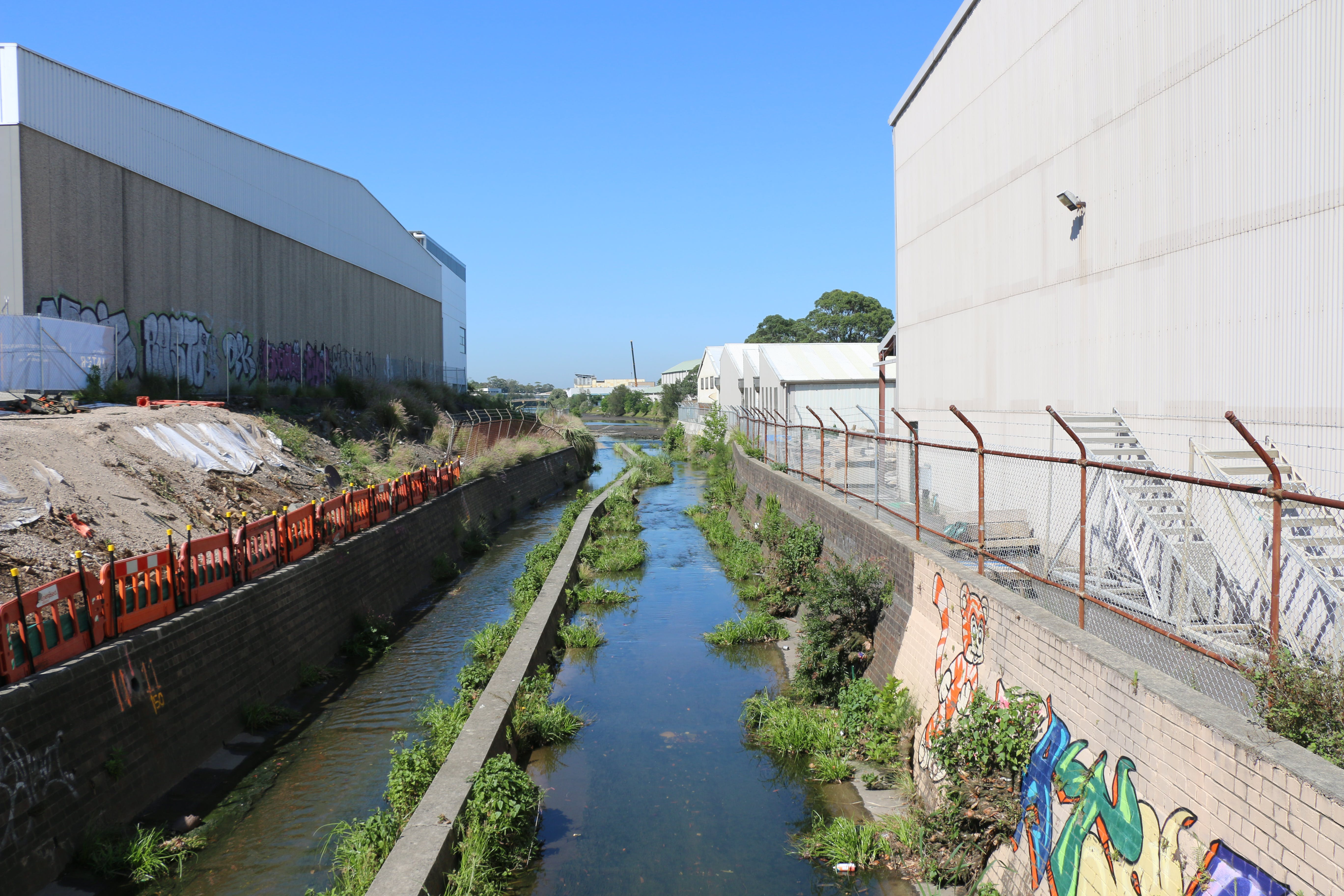 Sheas Creek Stormwater Channel, between Huntley Street and Alexandra Canal in Alexandria
