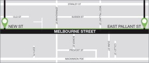 Melbourne Street   Pilot Area